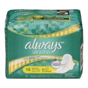 ALWAYS ULTRA REG W/WINGS THIN PADS 18ct