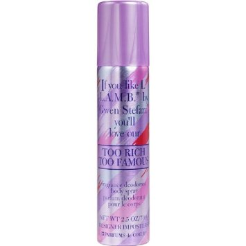 TOO RICH TOO FAMOUS 2.5OZ BODY SPRAY